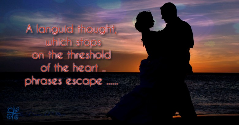 A moment of thoughts in the evening's echoes ...