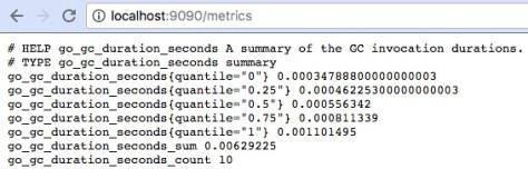 Prometheus: metrics