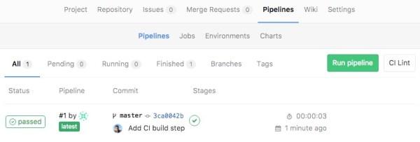 Pipeline succeeds