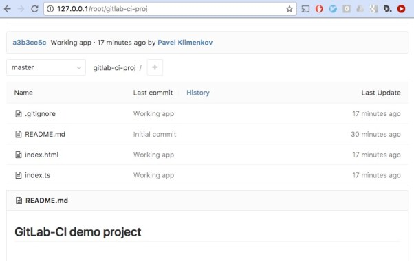 Demo project in GitLab