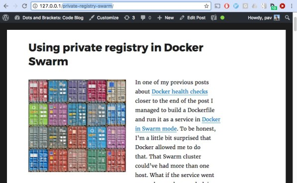codeblog.dotsandbrackets.com in Docker containers