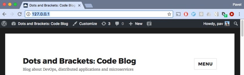 Move existing Wordpress site into Docker - Dots and Brackets: Code Blog