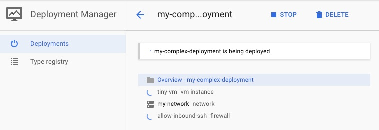 Python templates in GCP Deployment Manager