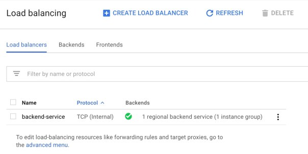 GCP Internal Load Balancer