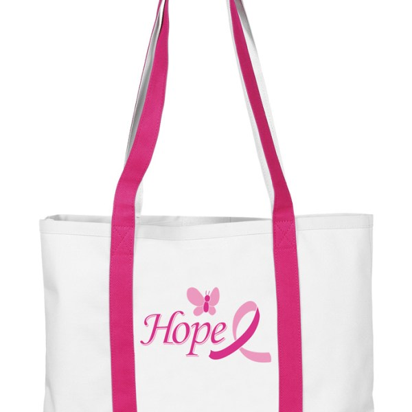 Butterfly w/ Pink Ribbon Hope Tote Bag