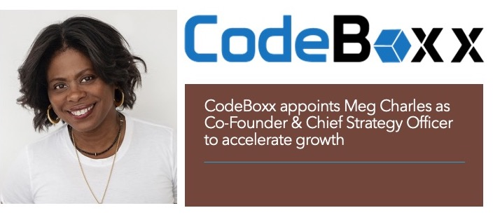 CodeBoxx Technology appoints Meg Charles as Co-Founder & Chief Strategy Officer to accelerate growth