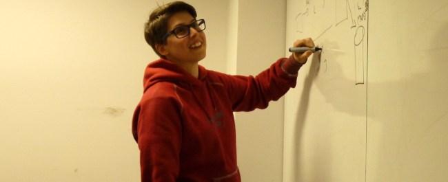 Finn in class