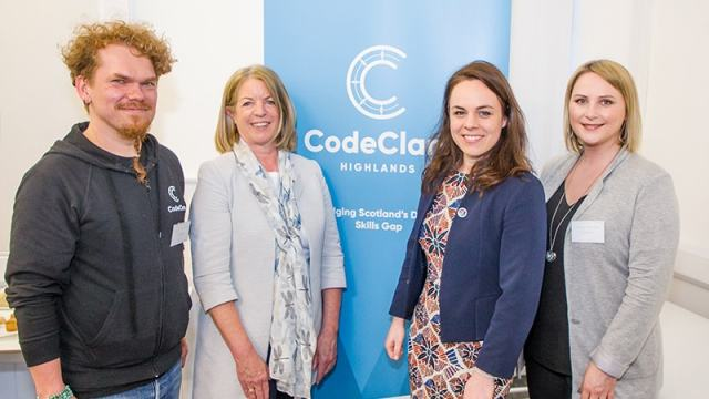 CodeClan with minister Kate Forbes