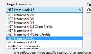 17. Changing the .Net Framework