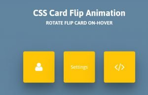 CSS Flip Animation on Hover – Flipping Card