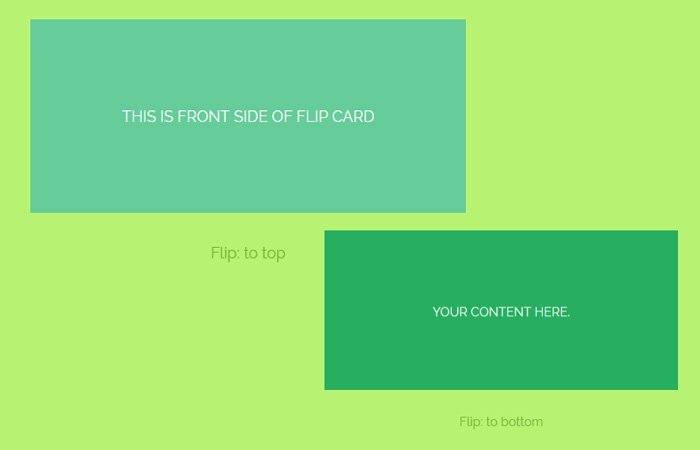 Verticle Flip Aimation With CSS