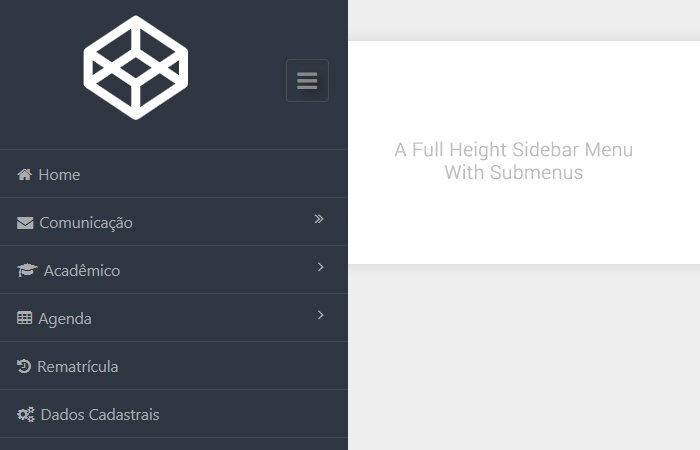 How to Build Fixed Full height CSS Sidebar Menu with Submenu