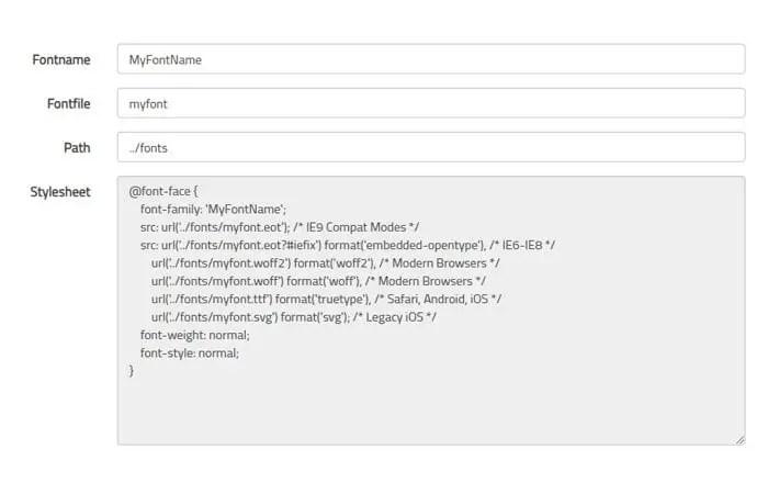 10 Best CSS @Font Face Generator Tools Online | Codeconvey