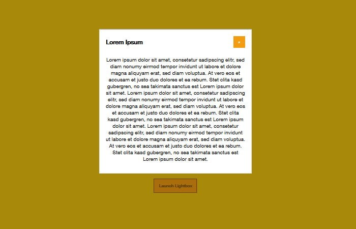 Responsive Pure CSS Modal/Lightbox without Javascript