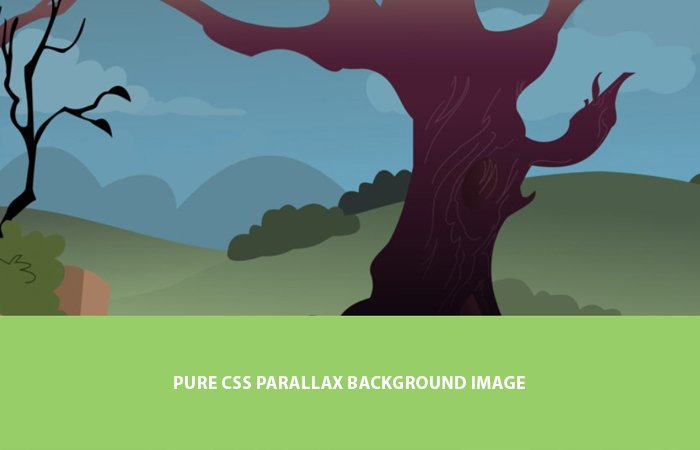 Pure CSS Parallax Background Image