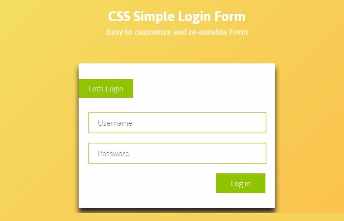 Simple Login Page in HTML with CSS Code Free Download