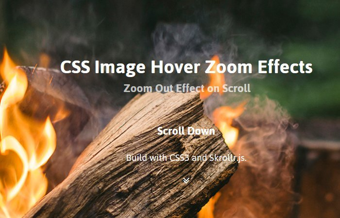 Create Zoom Out Hero Image on Scroll Effect