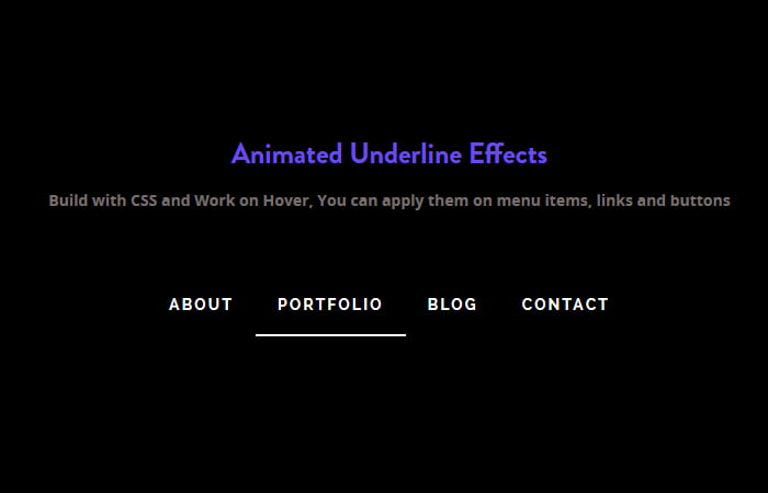 Animated CSS Link Hover Effects Underline