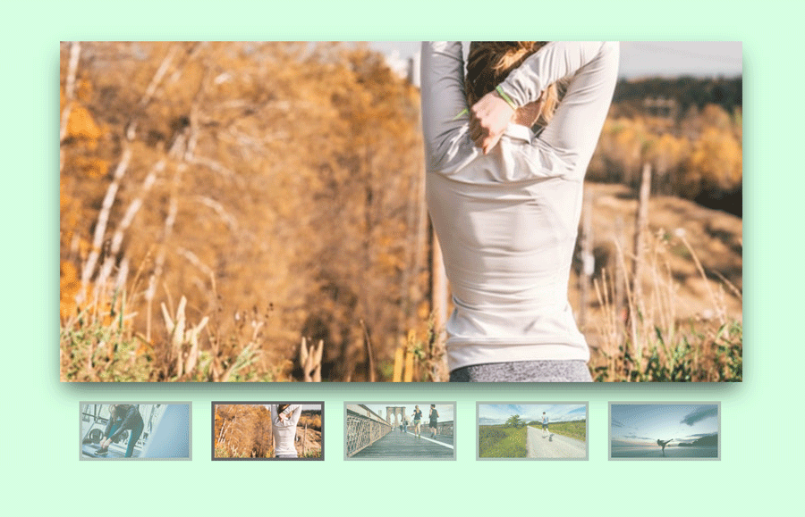 CSS3 Image Slider with Stylized Thumbnails