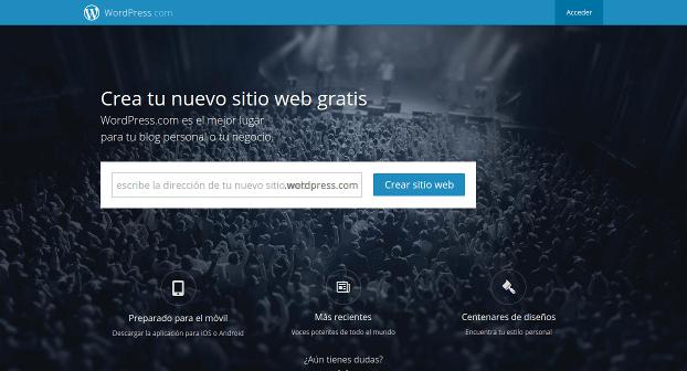 WordPress.com  crea un sitio web o un blog gratuitos