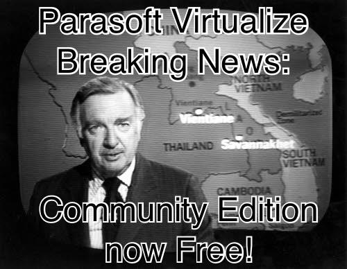 Newscaster announces free Parasoft Virtualize