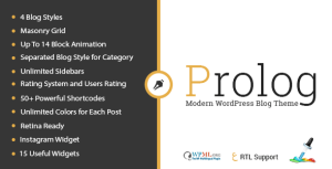 Prolog - Personal Creative Blog WordPress Theme