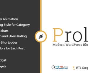 Prolog – Personal Creative Blog WordPress Theme