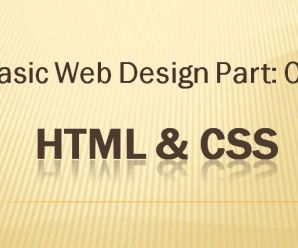 Lesson 3: Basic Webdesign Part-Three