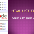 How to create HTML Order List & Unorder List