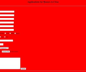 Complete Application Form By Html