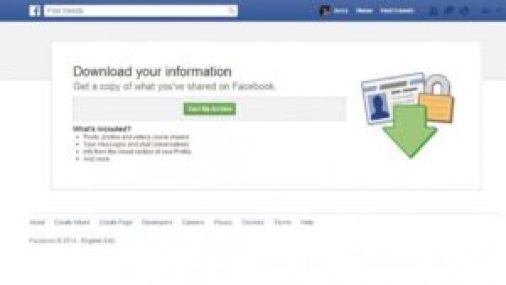Back Up Facebook Data