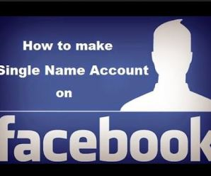 How To Make Fb Single Name