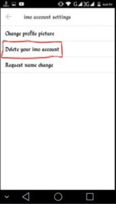 Imo Account Delete