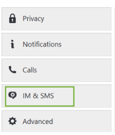 IM and SMS option