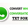 Convert WhatsApp Conversation Into TXT Format