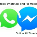 Make Your  Android Always Online From WhatsApp And FB Messenger