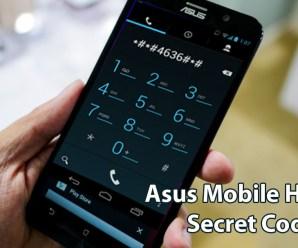 Asus Mobile Hidden Secret Codes List