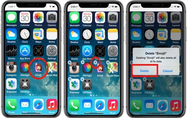 ketuk dan tahan ikon aplikasi apa pun
