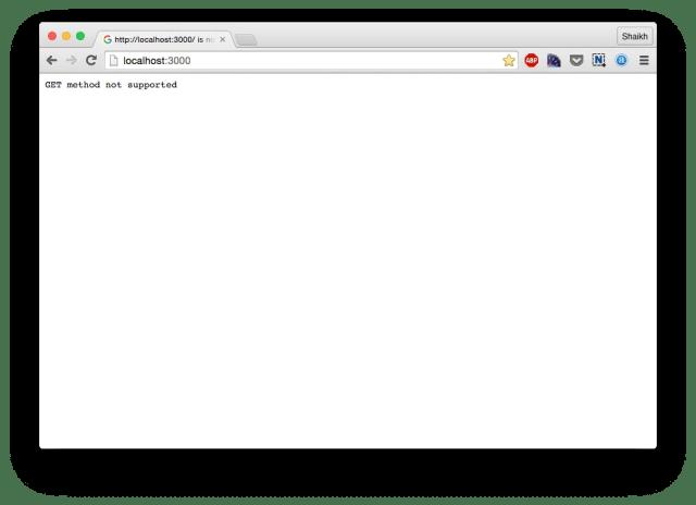 Node.js middleware function
