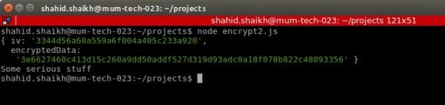 Encrypt and decrypt Nodejs
