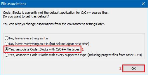Codeblocks file association