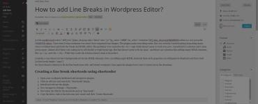 add line breaks to wordpress editor using shortcoder plugin