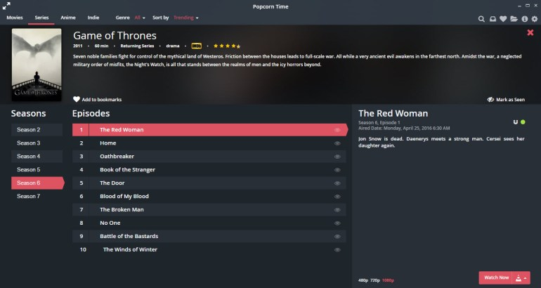 watch tv shows instantly with popcorn times