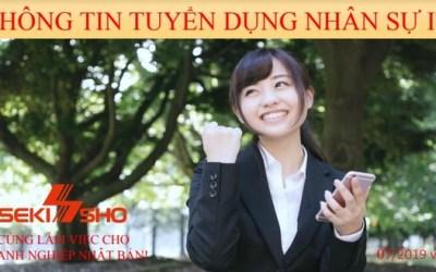Sekisho Việt Nam tuyển dụng nhân sự tháng 7/2019