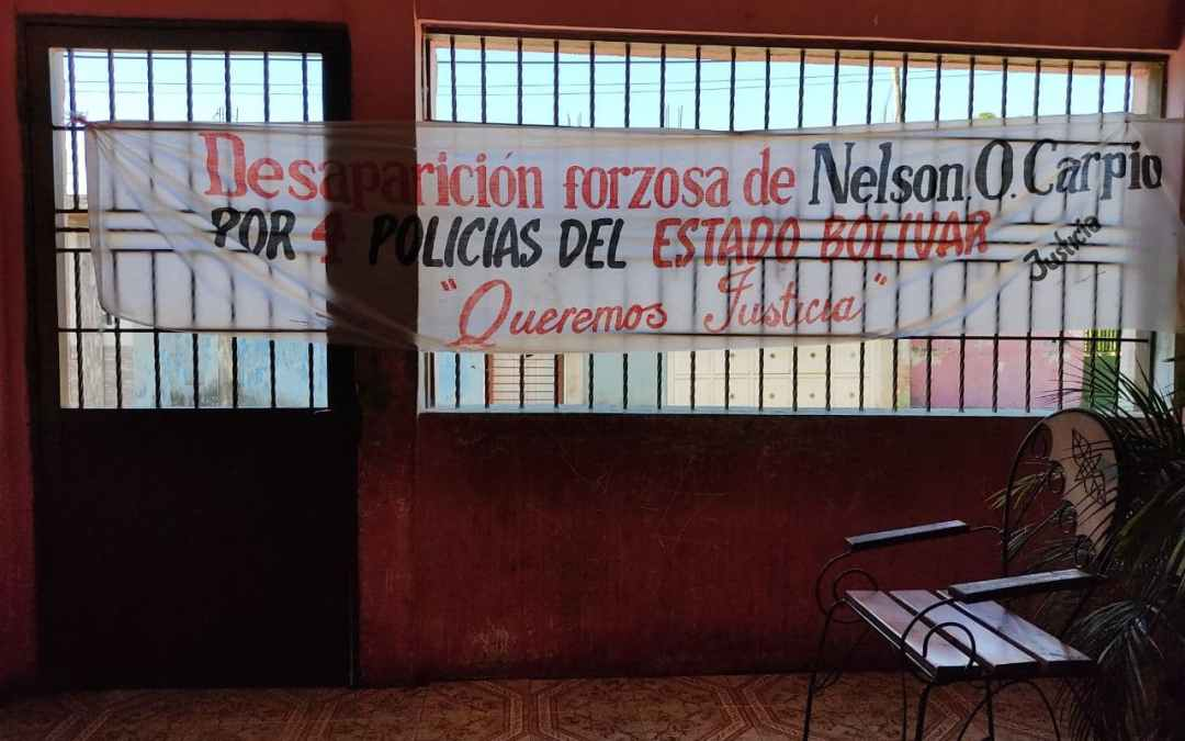 Nelson Carpio cumple 5 años desaparecido a manos de funcionarios del Estado