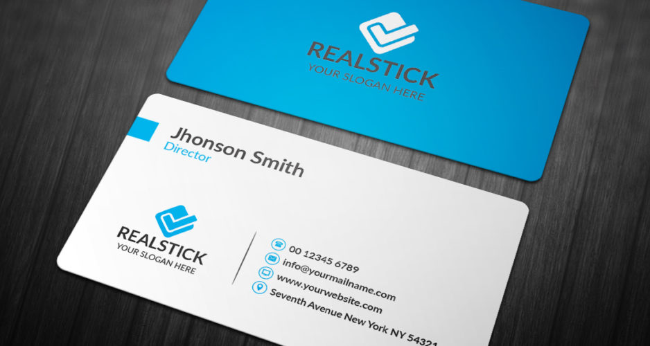 22 Awesome Blue Colored Business Cards Codeknows