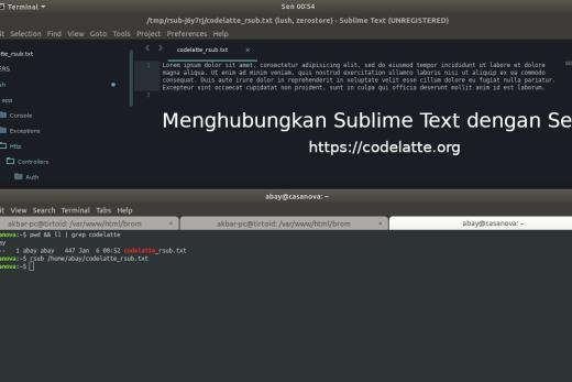 Menghubungkan Sublime Text dengan Server