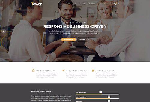 Tower Default WordPress Theme