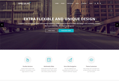 Specular Default WordPress Theme