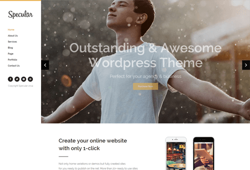 Specular Left Nav WordPress Theme